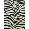 Concord Global Imports Shaggy Zebra Black Shag Rug