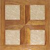 """<strong>Home Dynamix</strong> 16"""" x 16"""" Vinyl Tiles in Paramount Woodtone/Taupe Marble"""