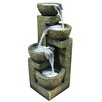 <strong>Alpine</strong> Fiberglass and Stone Three Tier Water Fountain