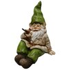 <strong>Alpine</strong> Gnome Laying Down with Bird Statue
