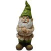 Alpine Gnome Folding Hands Looking up Garden Statue
