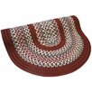 Thorndike Mills Pioneer Valley II Indian Summer with Burgundy Solids Round Outdoor Rug