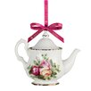 Royal Albert Annual Old County Roses Teapot Ornament