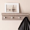 Wildon Home ® Alex Wall Mount Shelf with Hangers