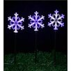 SantasForest LED Snowflake Stake Set Christmas Decoration (Set of 3)