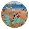 """Lexington Studios Travel and Leisure 18"""" Skinny Dipping Wall Clock"""