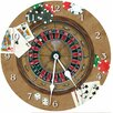 "Lexington Studios 10"" Gambler Wall Clock"