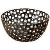 St. Croix Kindwer Square Pattern Metal Basket