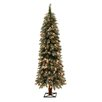 General Foam Plastics 5' Frosted Alpine Christmas Tree with 105 Clear Lights