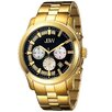 JBW Men's Delano Watch in Gold with Black Dial