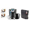 Keurig 2.0 K550 Brewing System with Countertop Storage Drawer, Starbucks Breakfast Blend K-Cups and Starbucks House Blend K-Cups