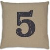 DR International Numeral 5 Pillow