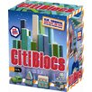 100 Piece Building Block Set in Cool Colors