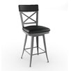 "<strong>Amisco</strong> Library Luxe Style 30"" Windsor Swivel Bar Stool"
