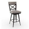 "Amisco Library Luxe Windsor 26"" Swivel Bar Stool"