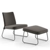 Amisco District Side Chair and Ottoman