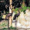Brass Baron Birds Crane Pair Statuary (Non-Fountain)