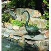Brass Baron Bird Long Neck Goose Fountain