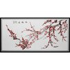 <strong>Oriental Furniture</strong> Plum Blossoms Framed Painting Print