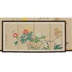 "<strong>18"" x 36"" Butterflies in The Garden 4 Panel Room Divider</strong> by Oriental Furniture"