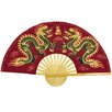 Oriental Furniture Fiery Dragons Fan Wall Décor