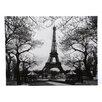 Oriental Furniture Eiffel Tower Park Photographic Print on Canvas
