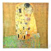 <strong>Oriental Furniture</strong> 'The Kiss' by Gustav Klimt Painting Print on Canvas