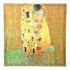 Oriental Furniture 'The Kiss' by Gustav Klimt Painting Print on Canvas