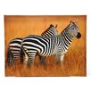 <strong>Oriental Furniture</strong> Plains Zebras Photographic Print on Canvas