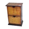 Oriental Furniture Petite Calligraphy 2 Drawer Accent Chest