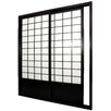 "Oriental Furniture 83"" x 73.5"" Double Sided Sliding Door Room Divider"