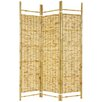 "72"" Burnt Bamboo Shoji 3 Panel Room Divider"