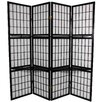 "Oriental Furniture 65.25"" x 69"" Window Pane 4 Panel Room Divider"