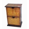 Oriental Furniture Petite Calligraphy 2 Drawer Cabinet