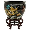 <strong>Lacquer Dragons Vase</strong> by Oriental Furniture