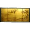 "36"" Gold Leaf Fishing for Life Silk Screen with Bracket"