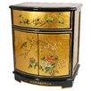 Oriental Furniture Leaf Round Front Shoe Cabinet