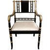 <strong>Oriental Furniture</strong> Regency Fabric Arm Chair