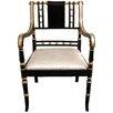 Oriental Furniture Regency Fabric Arm Chair