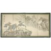 "Oriental Furniture 18"" x 36"" Mountain of Knowledge 4 Panel Room Divider"