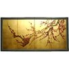 "Oriental Furniture 18"" x 36 "" Tree on Leaf 4 Panel Room Divider"