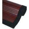 Oriental Furniture Bamboo Mahogany Rug