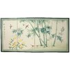 "36"" x 72"" Bamboo and 5 Birds 4 Panel Room Divider"