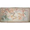 Oriental Furniture Birds and Flowers of Longevity 4 Panel Room Divider