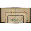 "<strong>Oriental Furniture</strong> 24"" Butterflies in The Garden 4 Panel Room Divider"