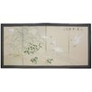 Oriental Furniture Cranes in Full Moon 4 Panel Room Divider