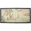Oriental Furniture Gift of the Flower 4 Panel Room Divider