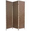 "Oriental Furniture 71"" x 54"" Island Outdoor 3 Panel Room Divider"