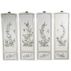 <strong>Oriental Furniture</strong> 4 Piece Birds and Flowers Wall Décor Set