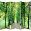 "<strong>70.88"" x 94"" Path of Life 6 Panel Room Divider</strong> by Oriental Furniture"